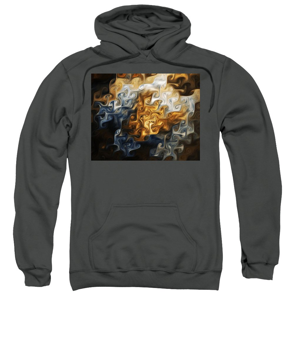 Sweatshirt featuring the digital art Perijove 1 by Kerry Mitchell