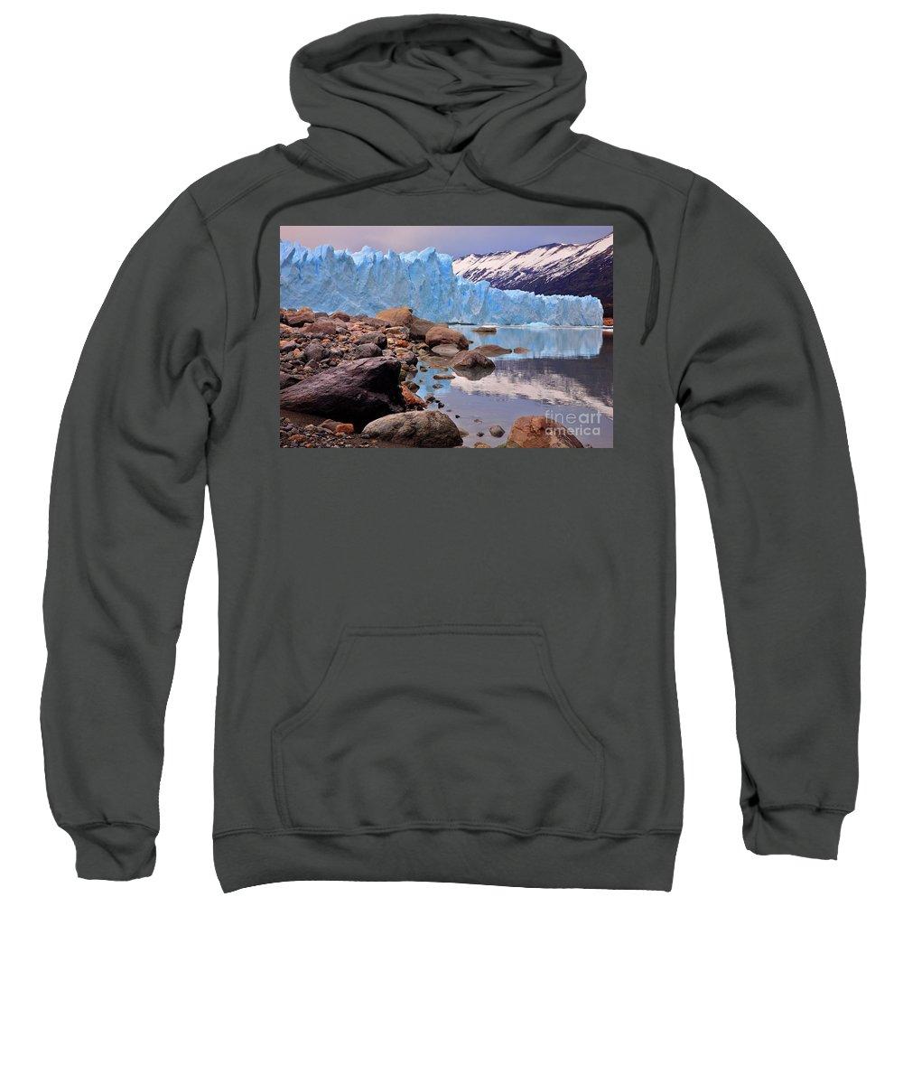 Calafate Sweatshirt featuring the photograph Perito Moreno 001 by Bernardo Galmarini