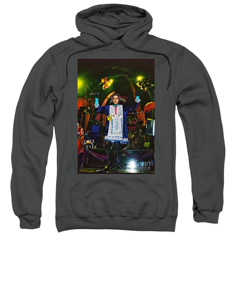 Enet Festival Sweatshirt featuring the photograph Perry Farrell by David J Warrington
