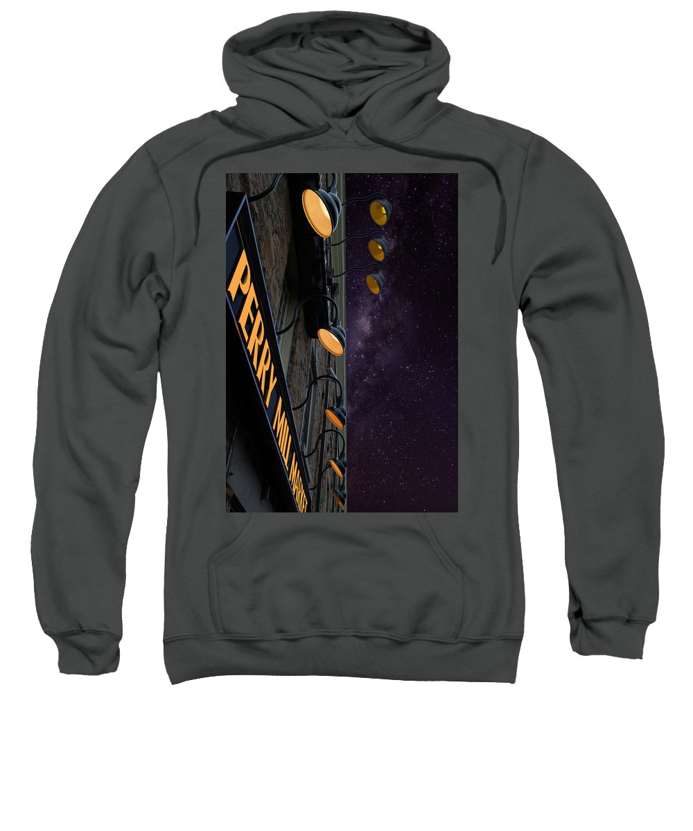 Photography Sweatshirt featuring the photograph Perry Mill Night by Paul Wear