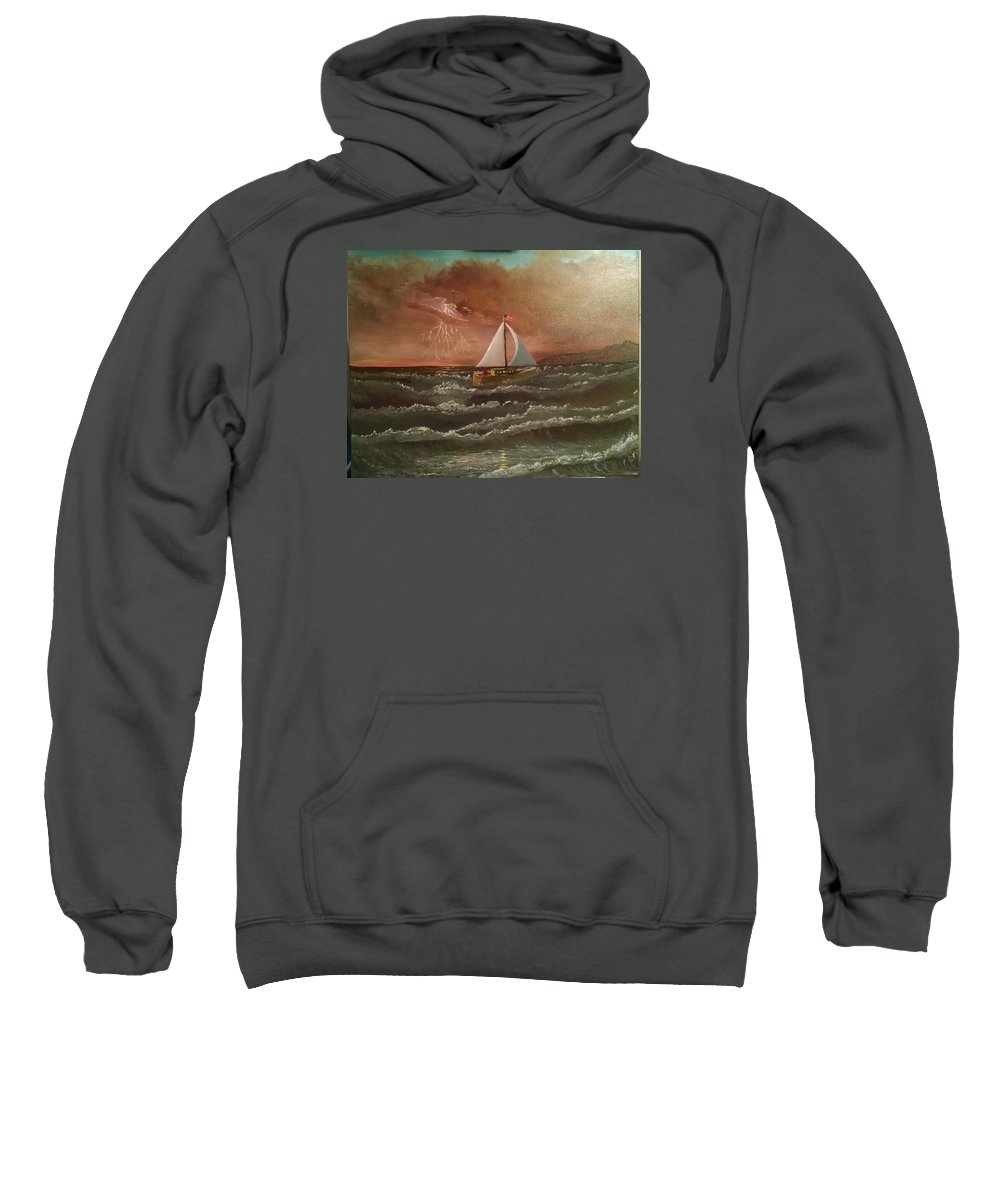 Oil Sweatshirt featuring the painting Perseverance by Michael Lee