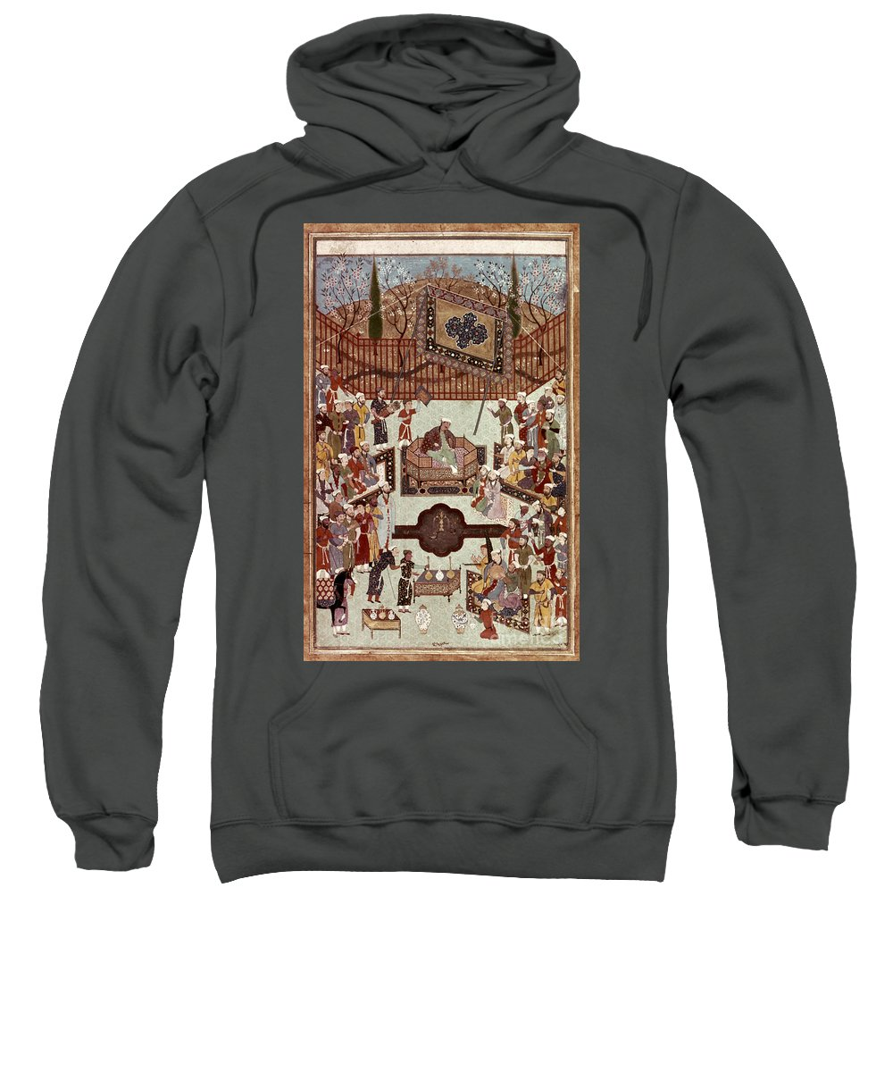 1567 Sweatshirt featuring the photograph Persian Miniature, 1567 by Granger