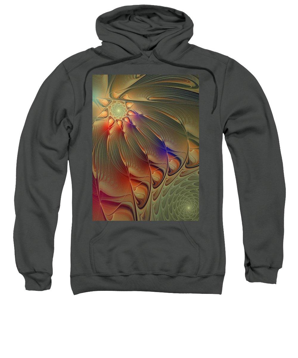 Digital Art Sweatshirt featuring the digital art Petalia by Amanda Moore