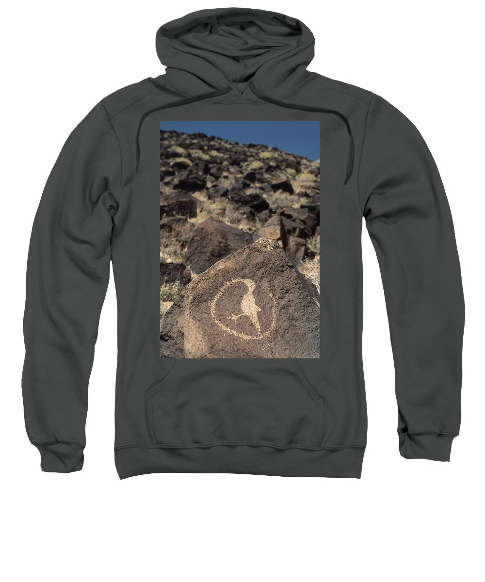 Petroglyph Sweatshirt featuring the photograph Petroglyph by Jerry McElroy