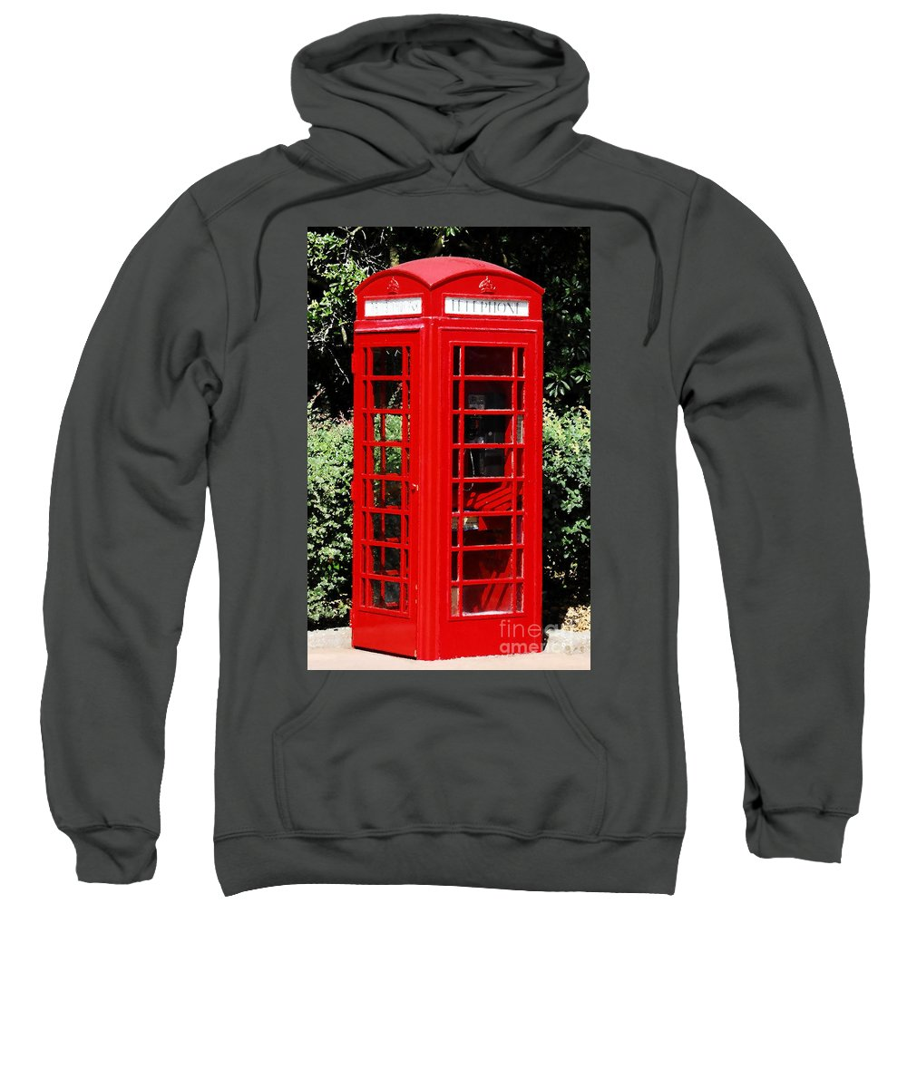 Phone Booth Sweatshirt featuring the photograph Phone Booth by David Lee Thompson
