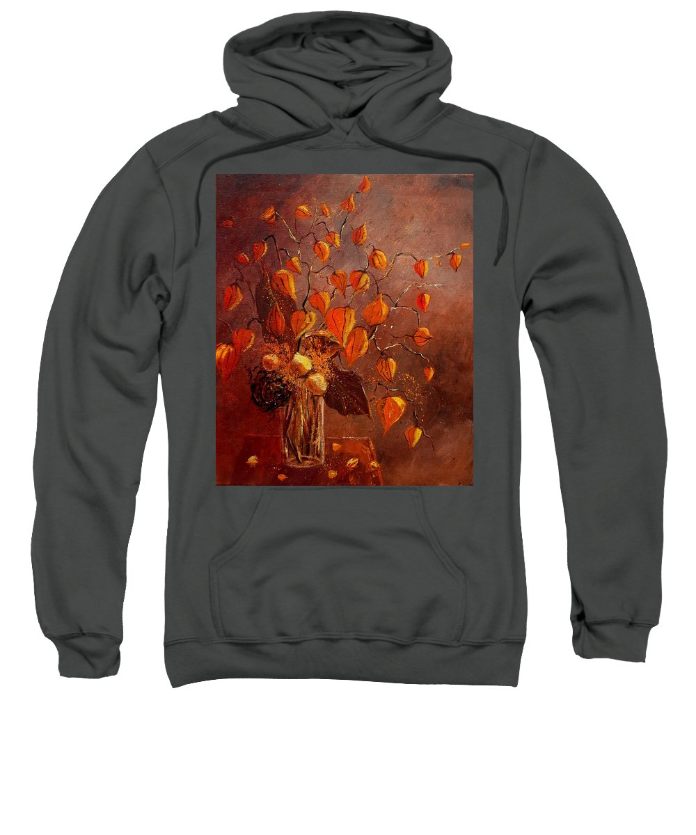 Poppies Sweatshirt featuring the painting Physialis by Pol Ledent