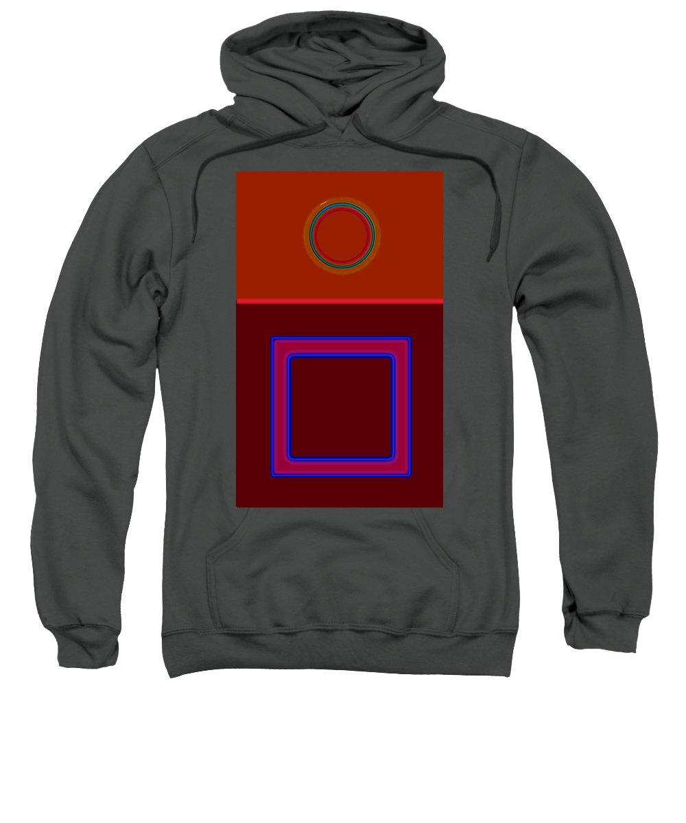 Classical Sweatshirt featuring the painting Piazza by Charles Stuart
