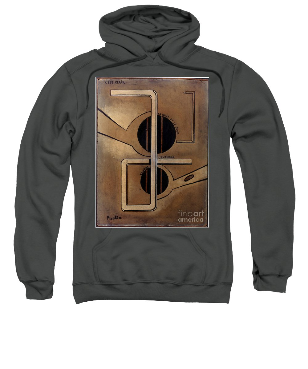 1917 Sweatshirt featuring the photograph Picabia: Cest Clair, C1917 by Granger