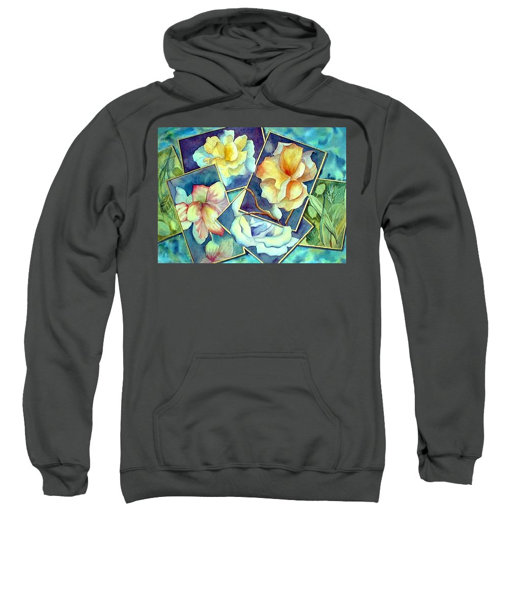 Watercolor Sweatshirt featuring the painting Pictures At An Exhibition by Debbie Lewis