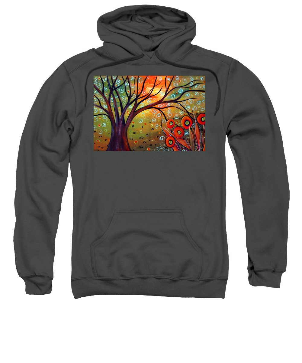 Landscape Sweatshirt featuring the painting Piece Of Eden by Luiza Vizoli