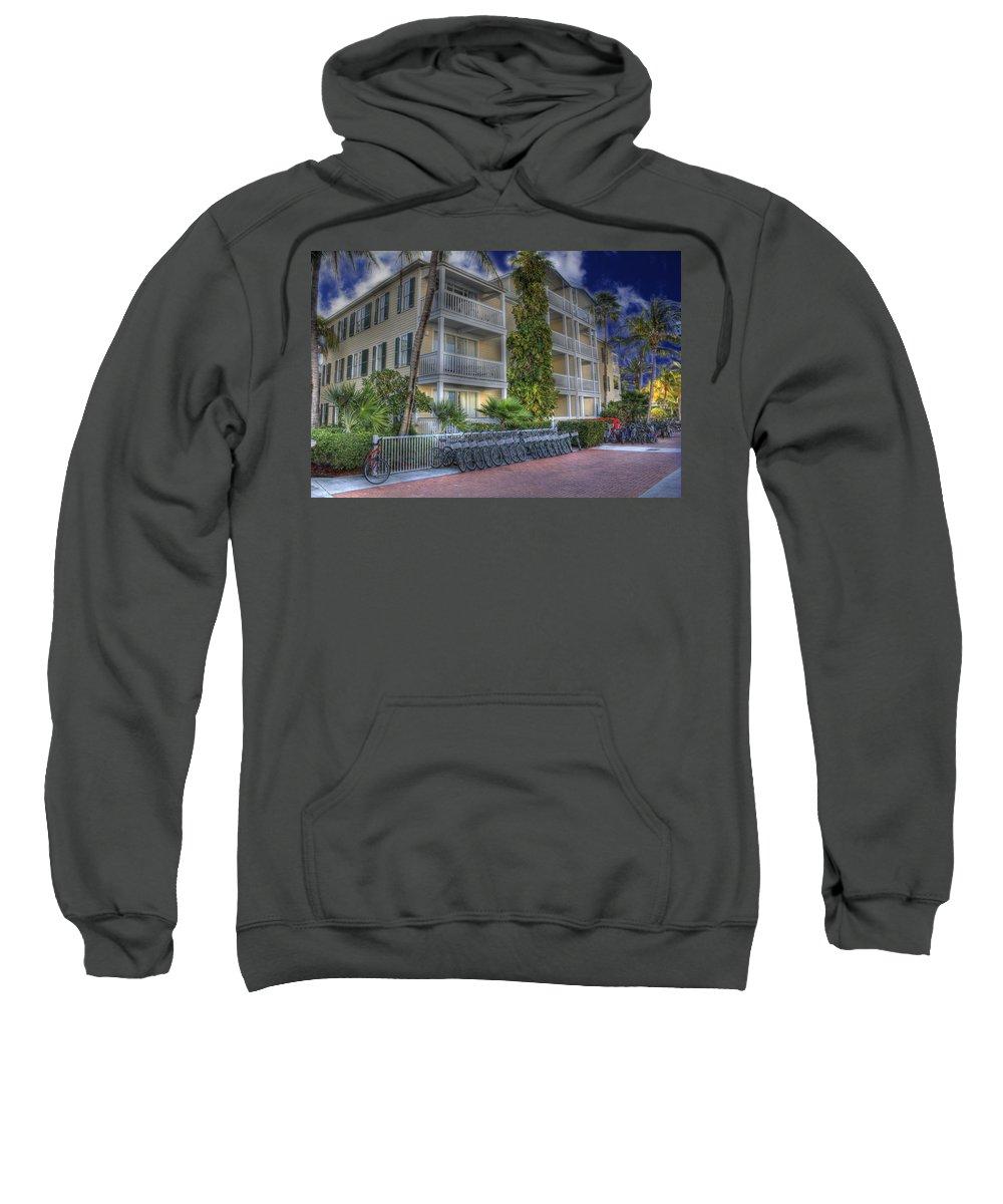 Key West Sweatshirt featuring the photograph Pier B by Shelley Neff