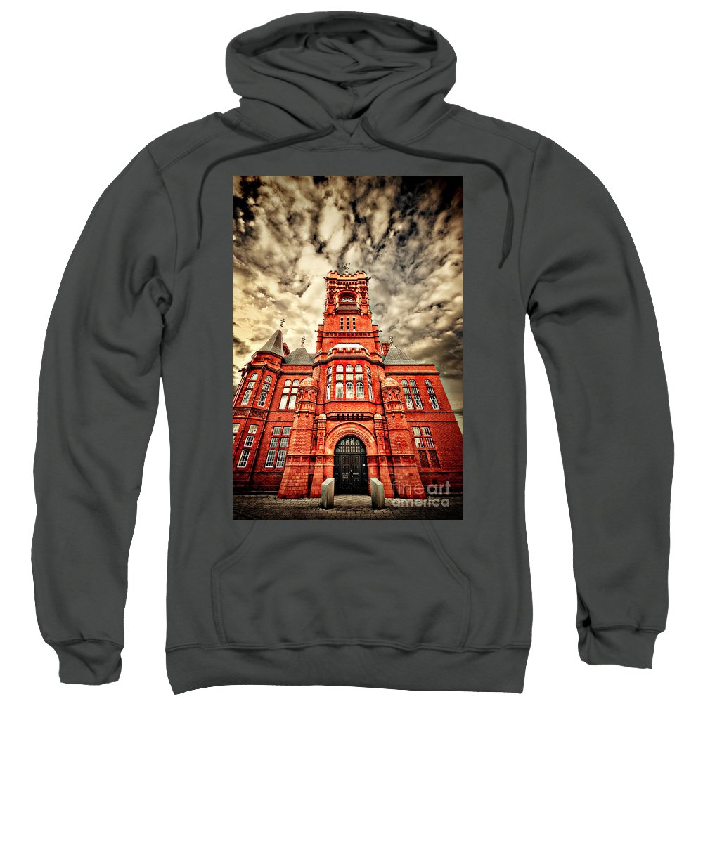 Pierhead Sweatshirt featuring the photograph Pierhead by Meirion Matthias