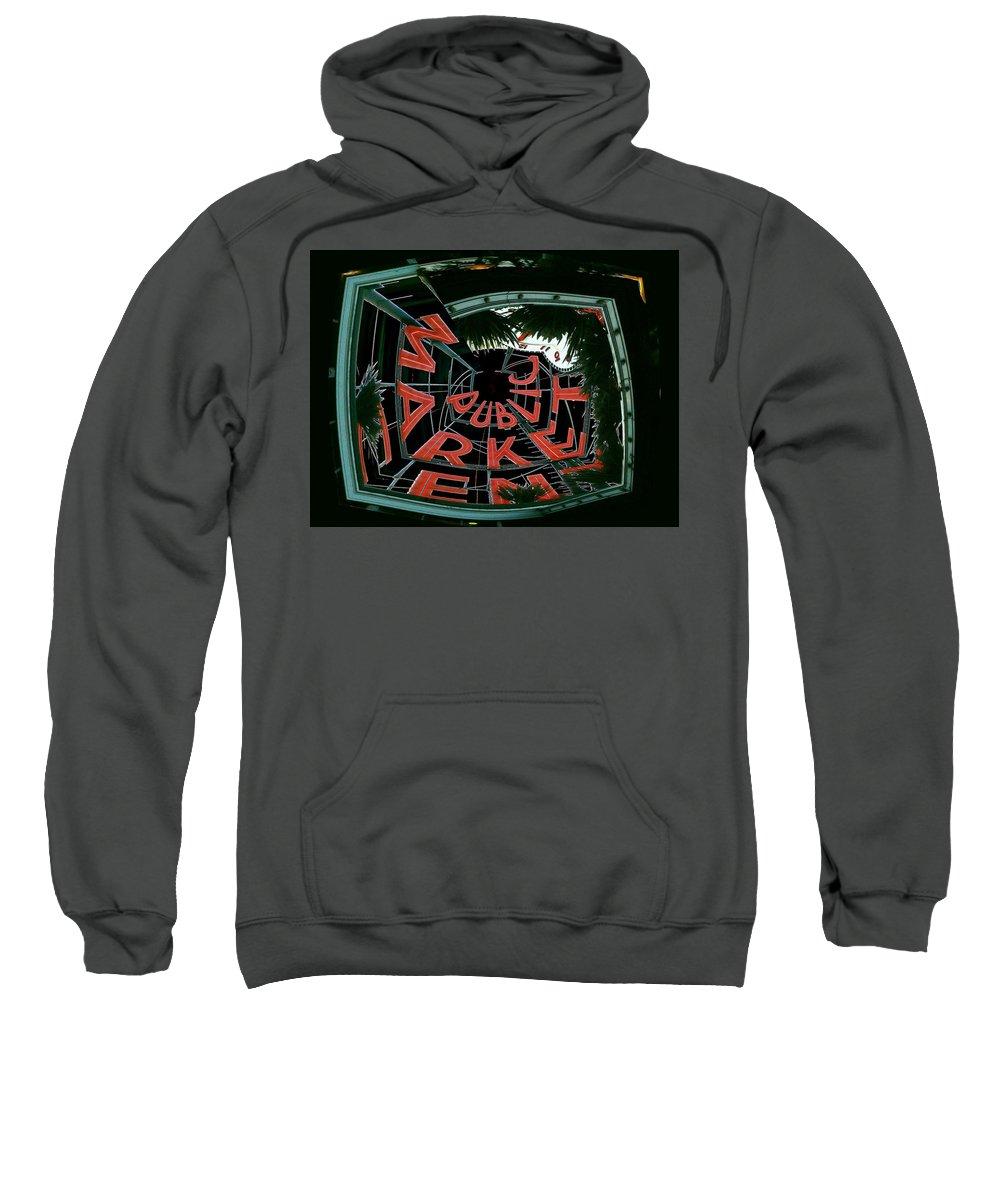 Seattle Sweatshirt featuring the digital art Pike Place Market Entrance 2 by Tim Allen