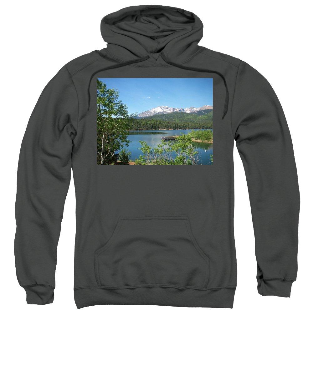 Colorado Sweatshirt featuring the photograph Pike's Peak by Anita Burgermeister