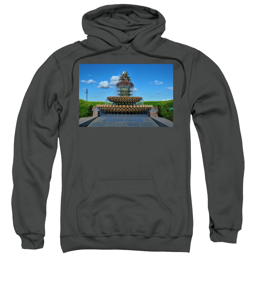 Pineapple Sweatshirt featuring the photograph Pineapple Fountain by TJ Baccari