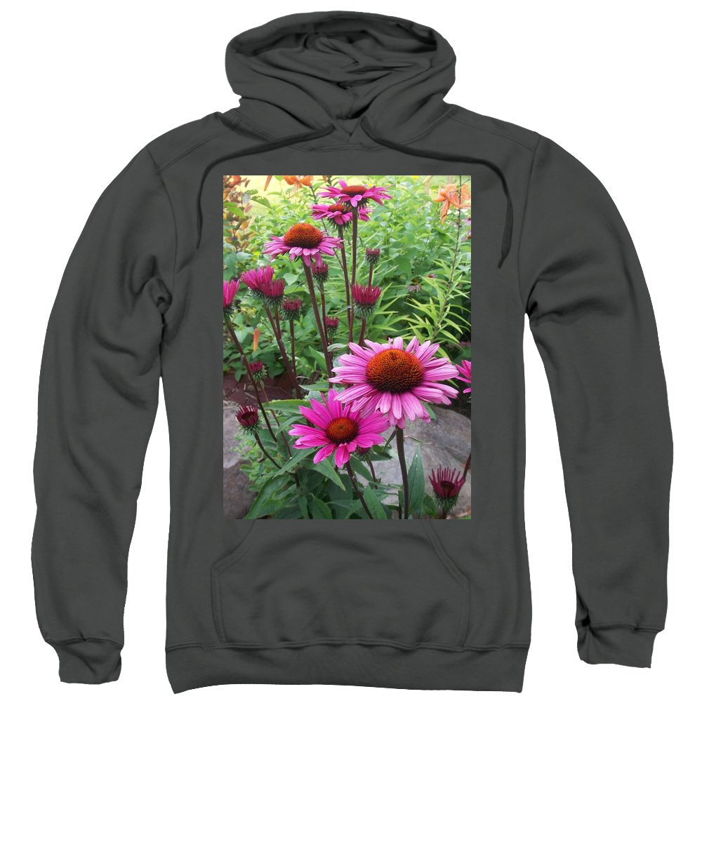 Flowers Sweatshirt featuring the photograph Pink All Over by Anita Burgermeister
