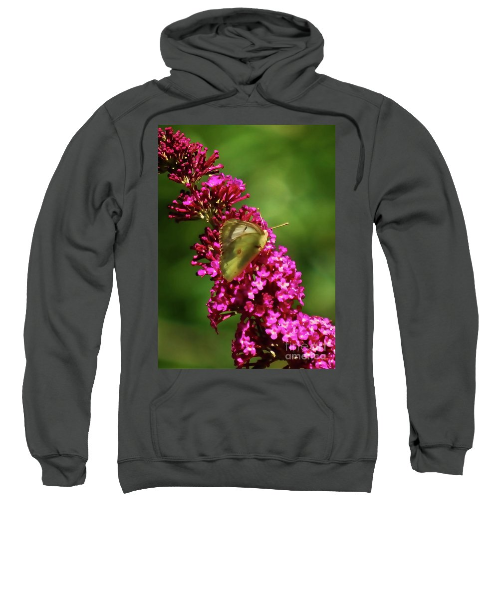Moth Sweatshirt featuring the photograph Pink And Green by Lori Tambakis
