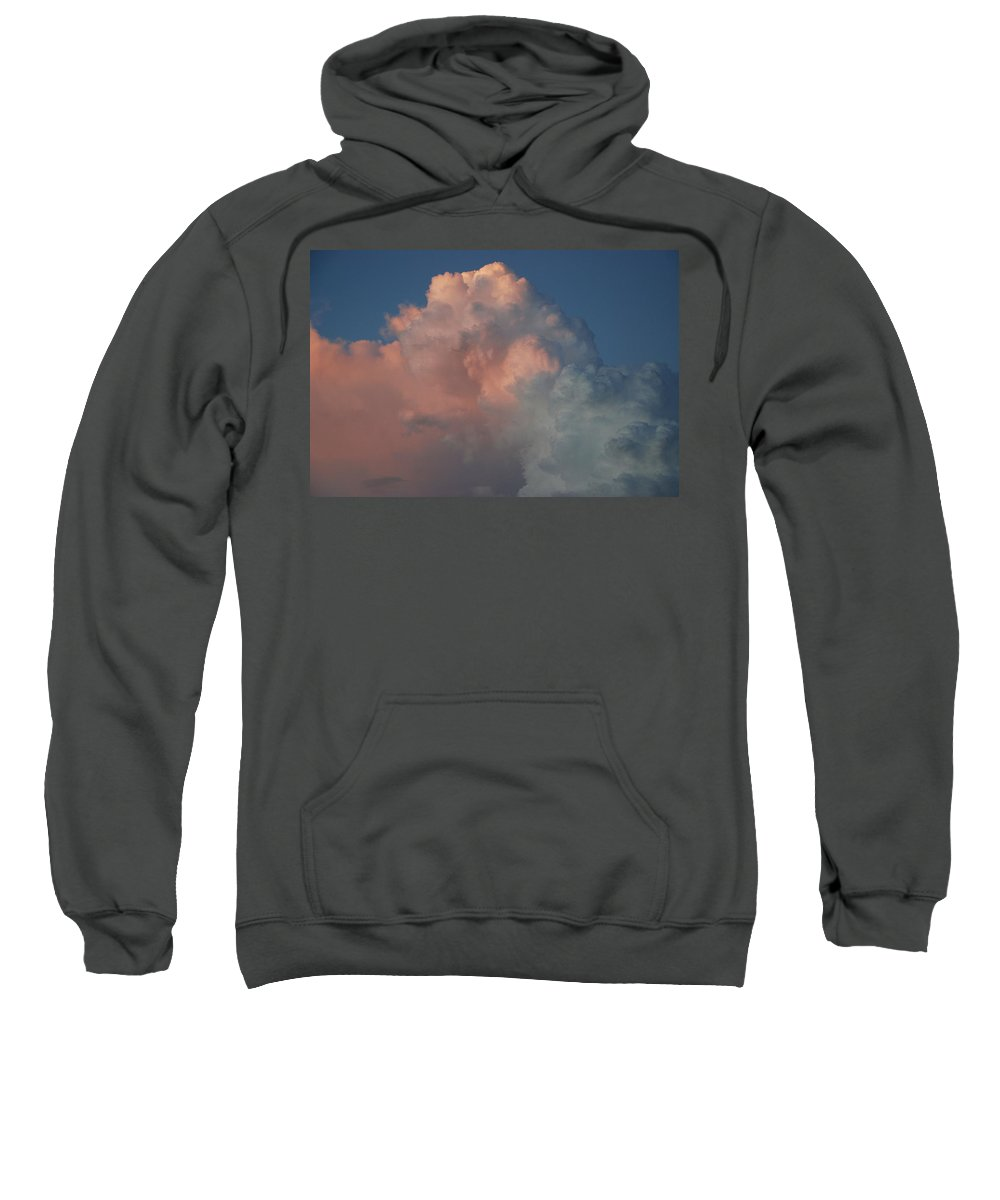 Clouds Sweatshirt featuring the photograph Pink And Grey by Rob Hans