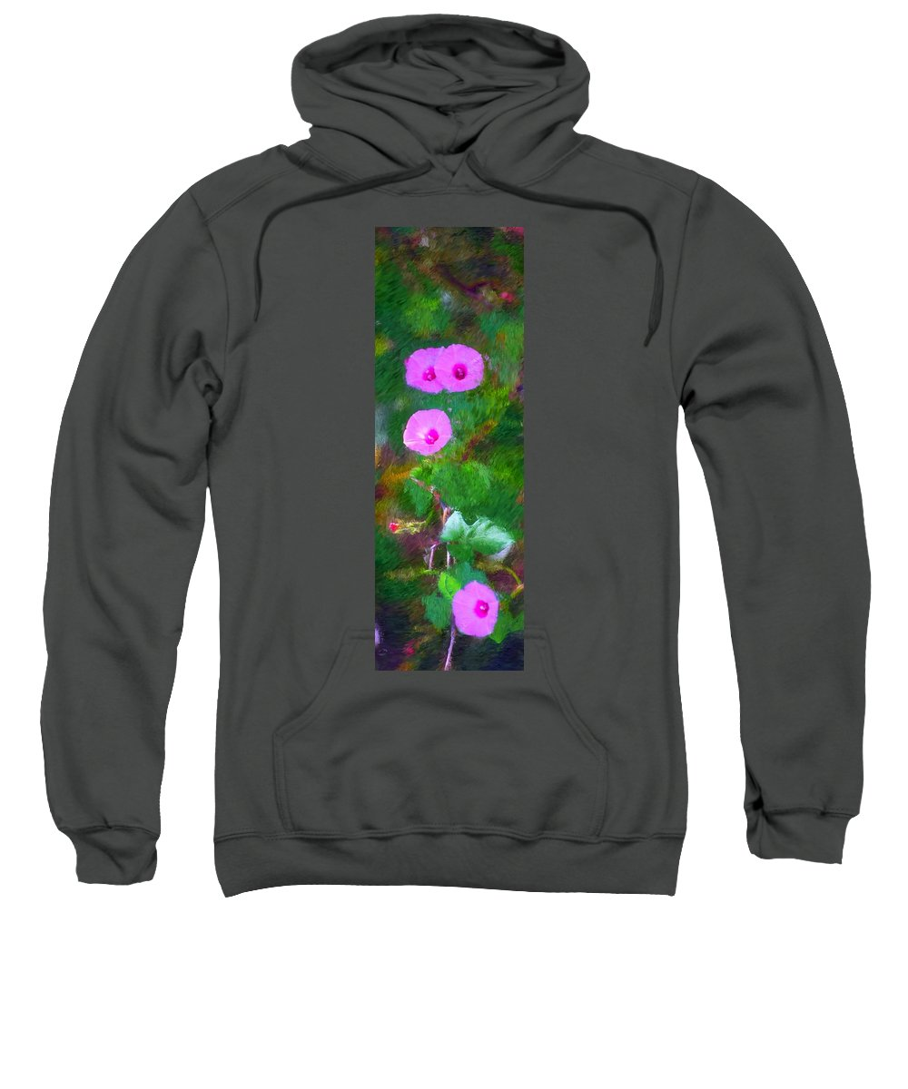 Floral Sweatshirt featuring the photograph Pink Flowers 102310 by David Lane