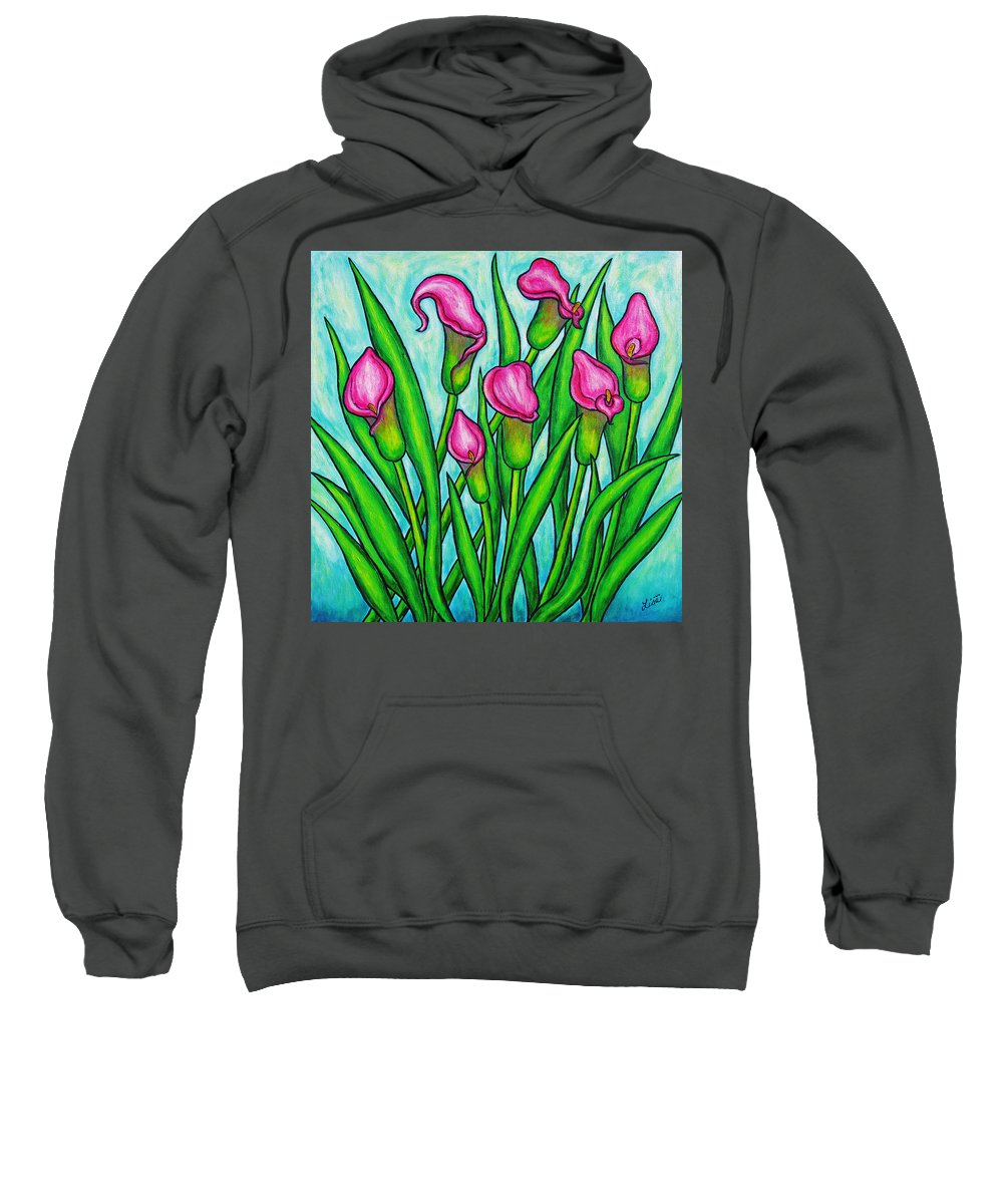Lisa Lorenz Sweatshirt featuring the painting Pink Ladies by Lisa Lorenz