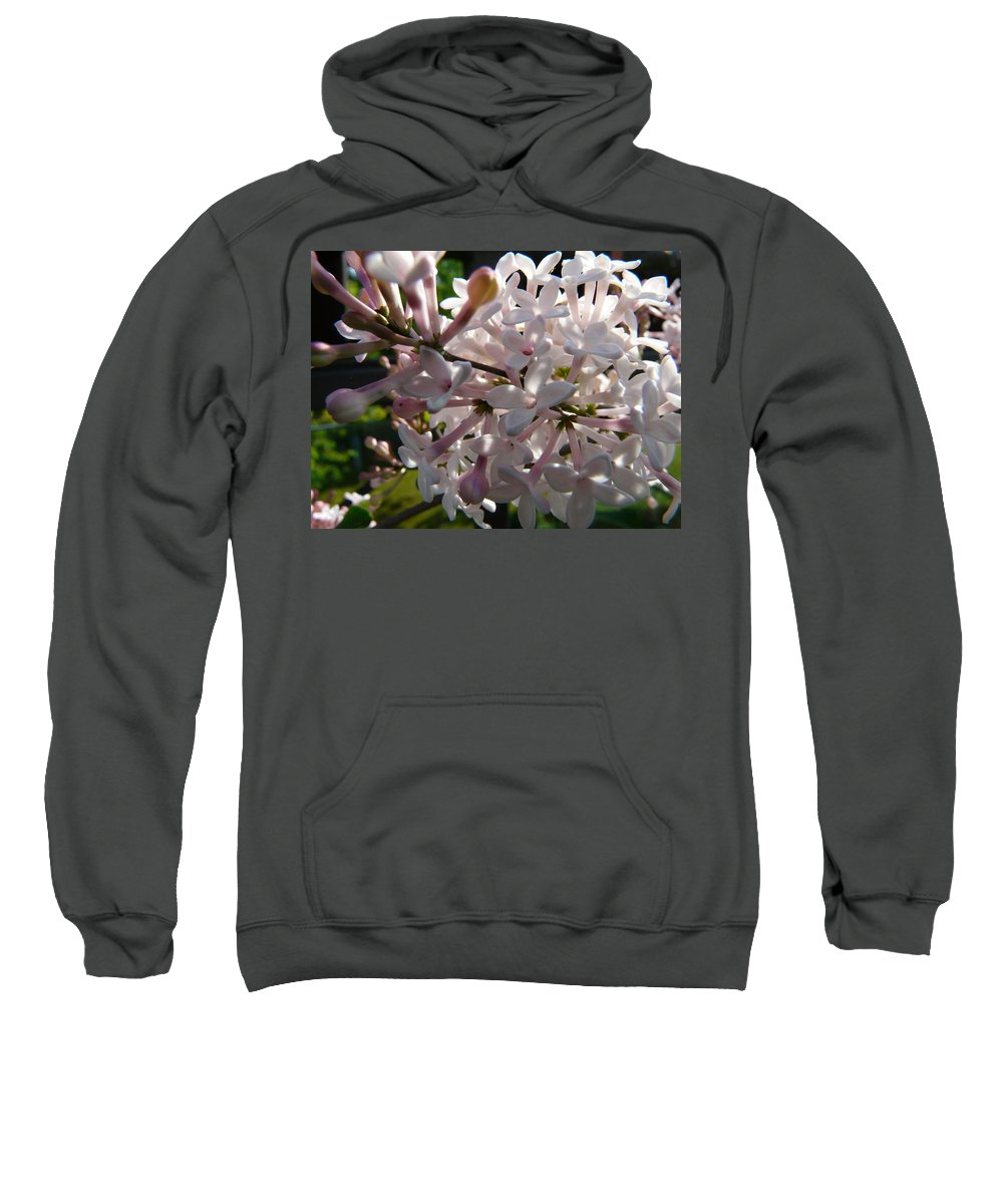 Flower Sweatshirt featuring the photograph Pink Lilac Blossom by Valerie Ornstein