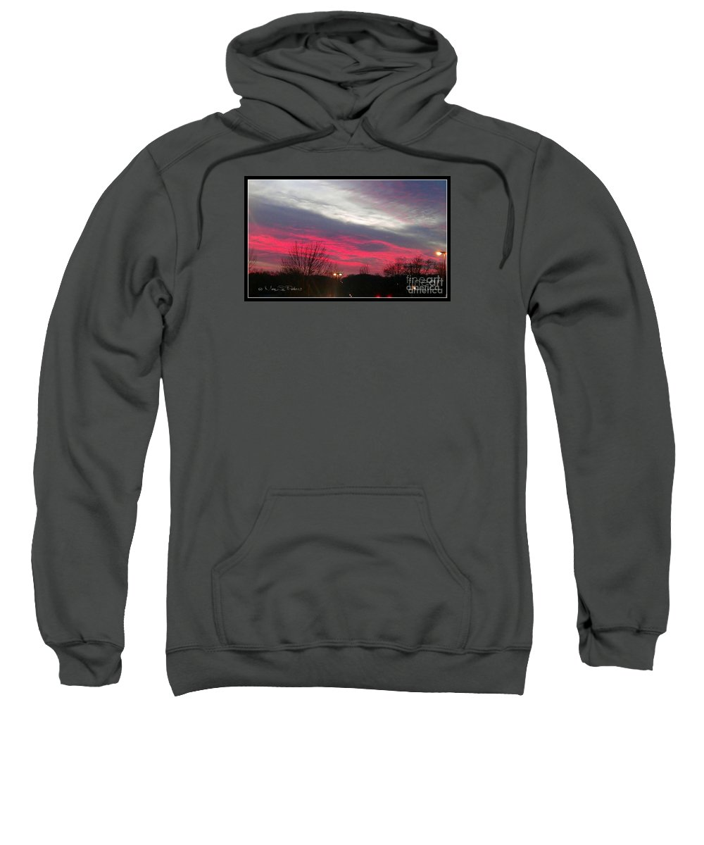 Pink Sweatshirt featuring the photograph Pink Night by MaryLee Parker