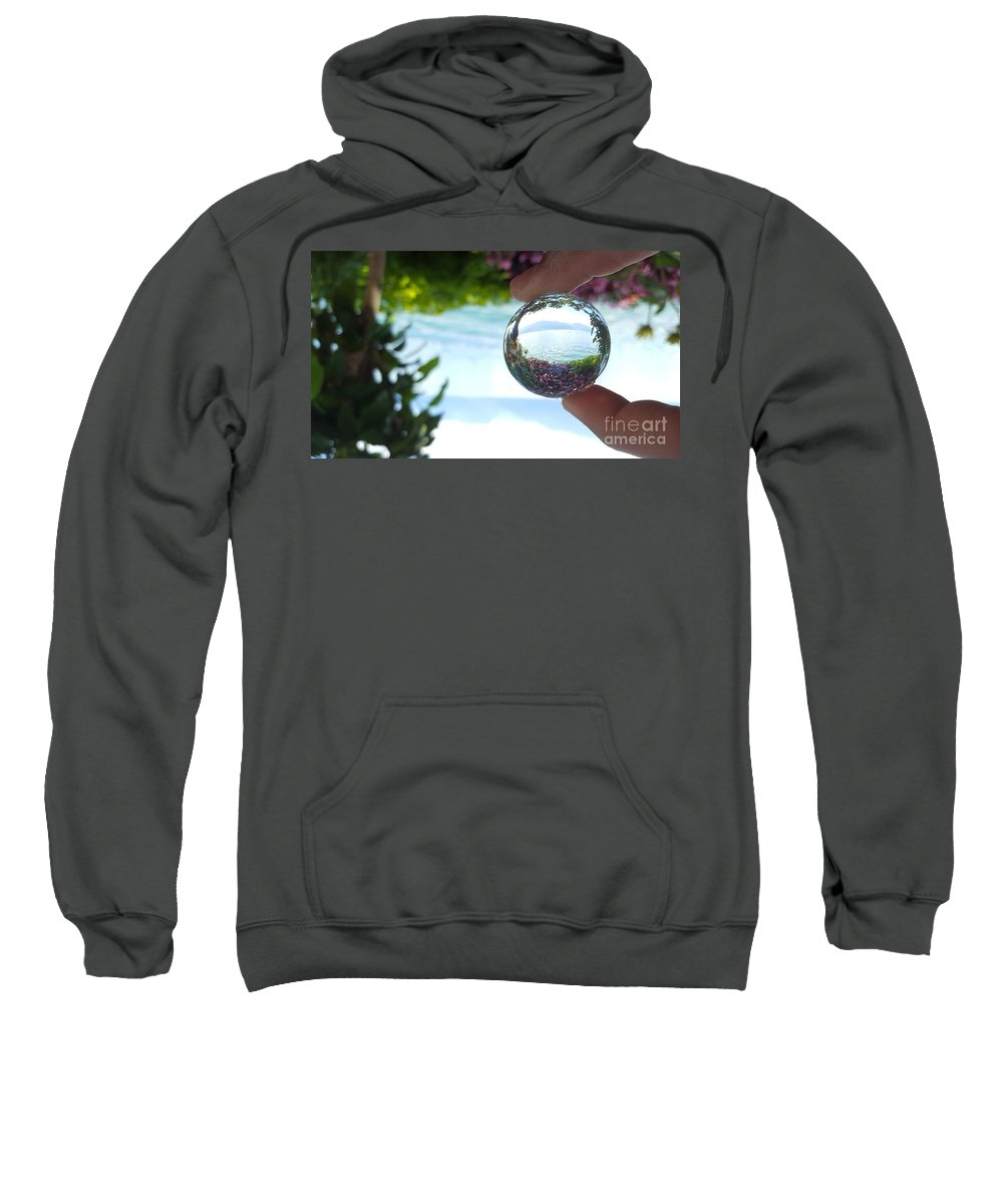 Magic Sweatshirt featuring the photograph Pink On The Lake by Ram Photography
