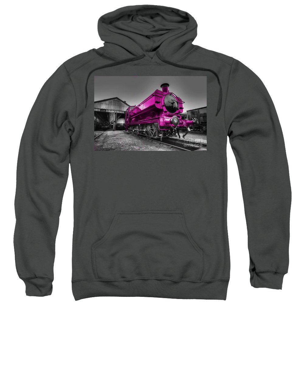 Steam Sweatshirt featuring the photograph Pink Pannier by Rob Hawkins