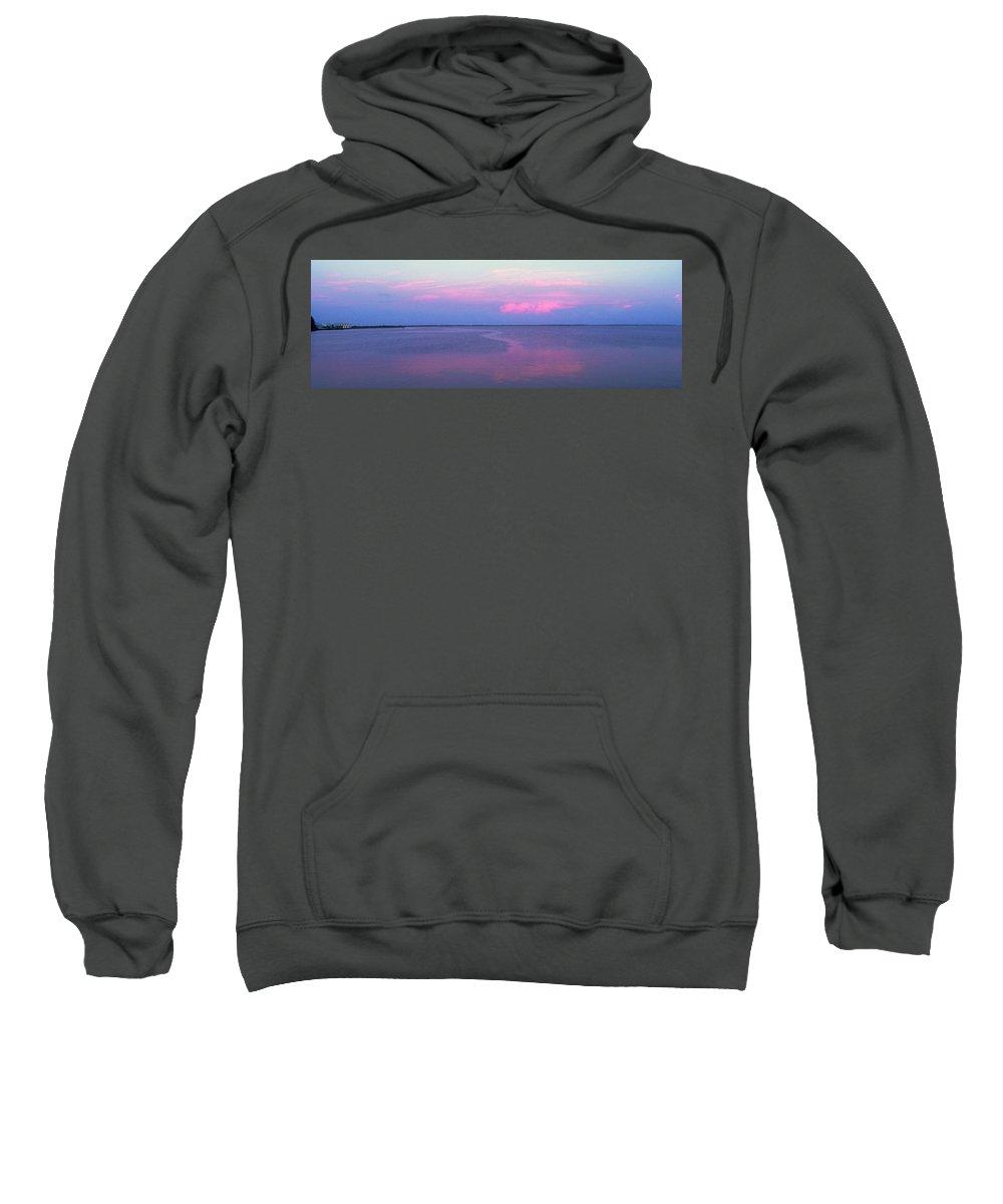 Sunset Sweatshirt featuring the photograph Pink Path by Ian MacDonald