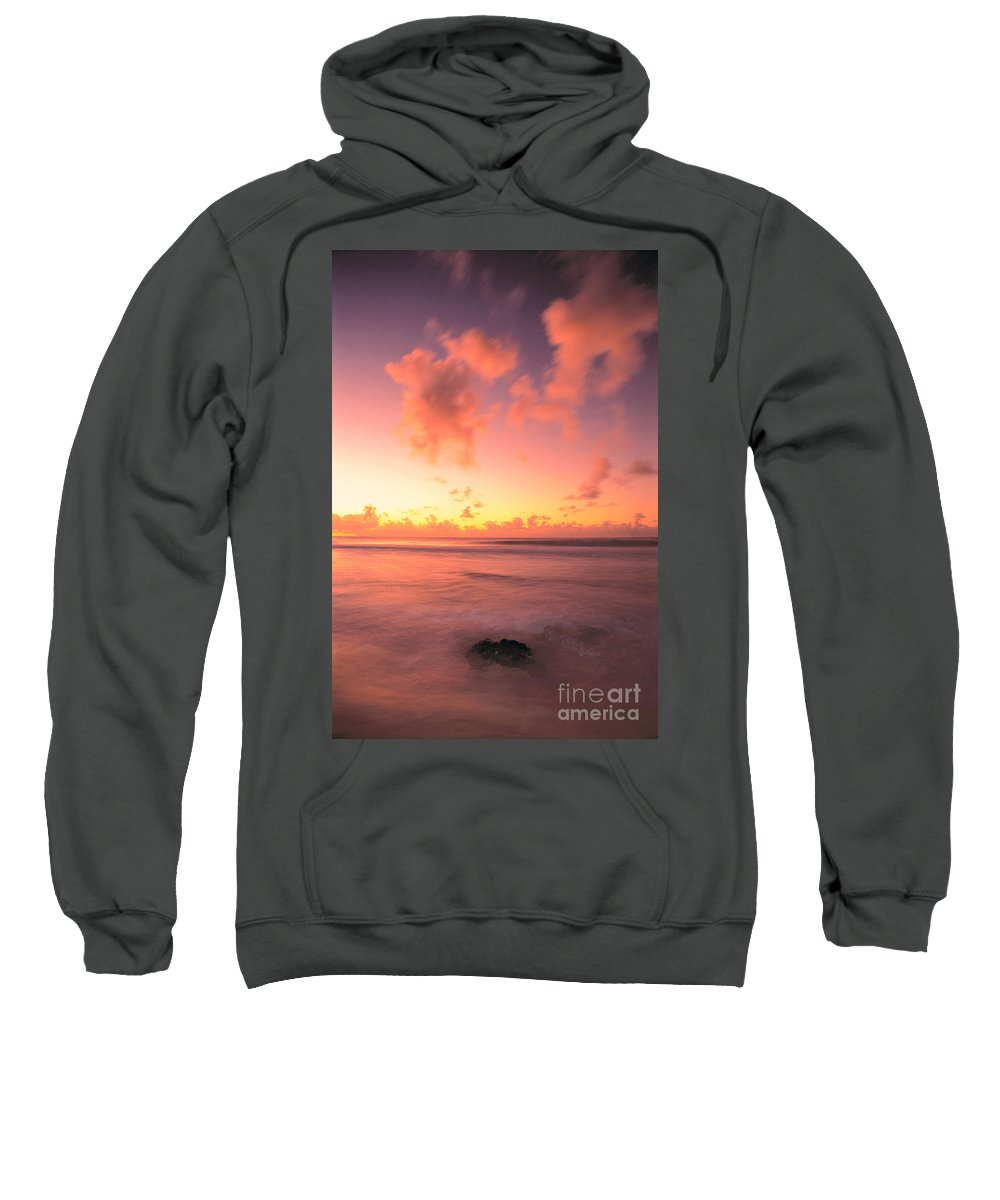 Active Sweatshirt featuring the photograph Pink Reflections by Erik Aeder - Printscapes
