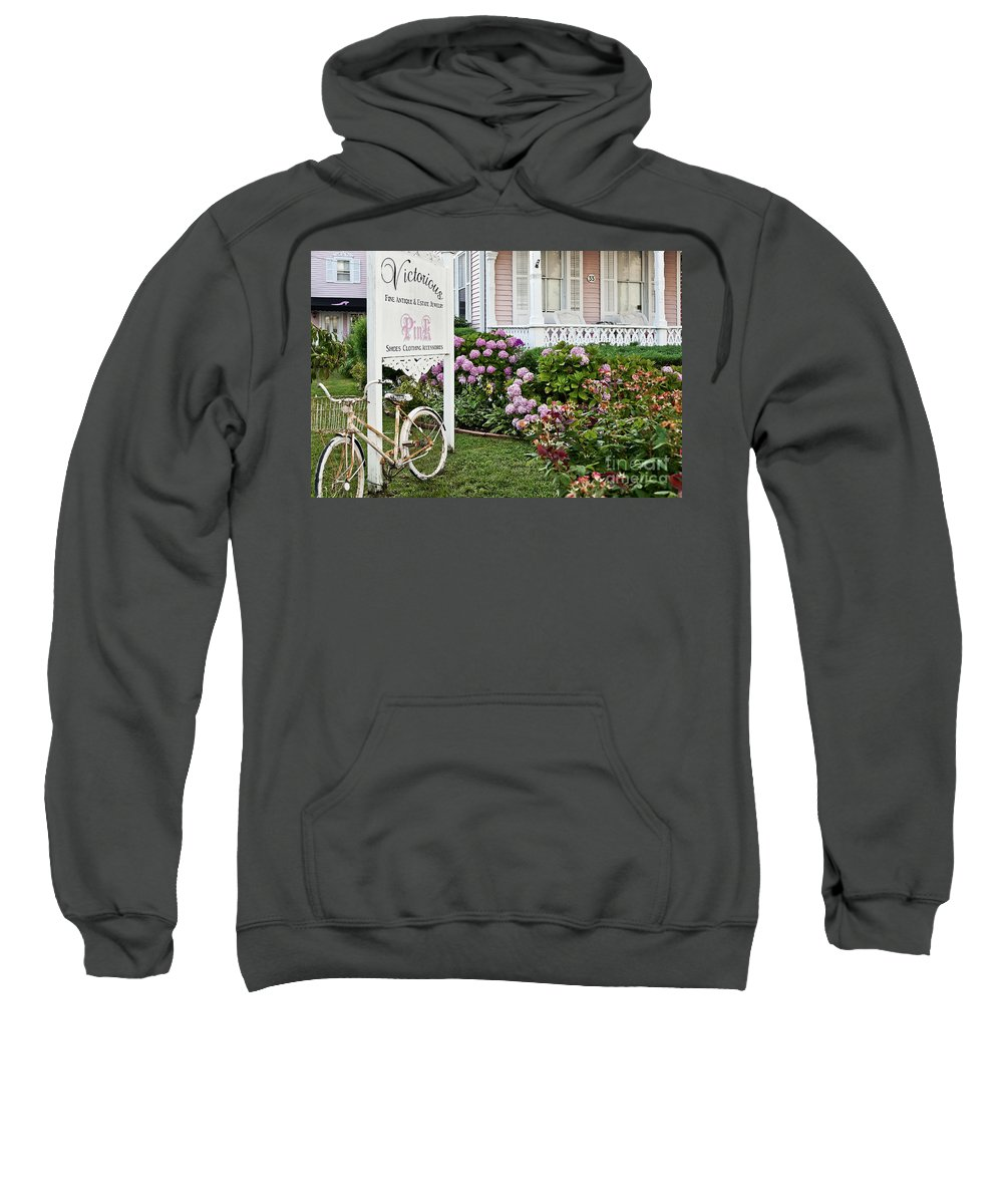 Cape May Sweatshirt featuring the photograph Pink Shop Cape May by John Greim