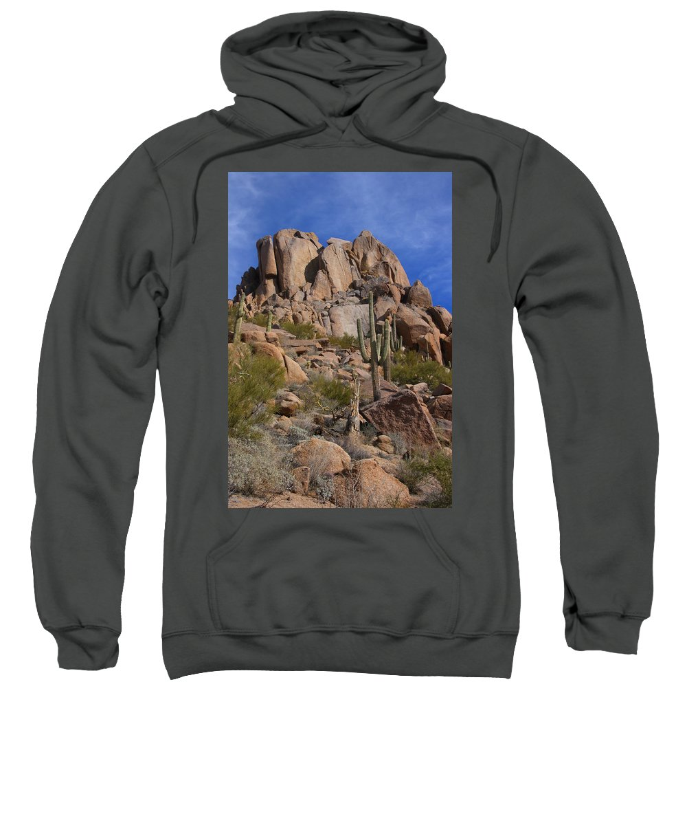 Pinnacle Peak Sweatshirt featuring the photograph Pinnacle Peak by James BO Insogna