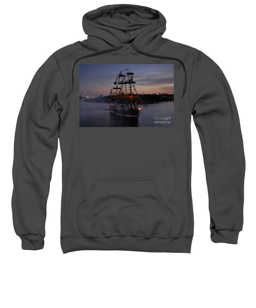 Pirates Sweatshirt featuring the photograph Pirate Invasion by David Lee Thompson