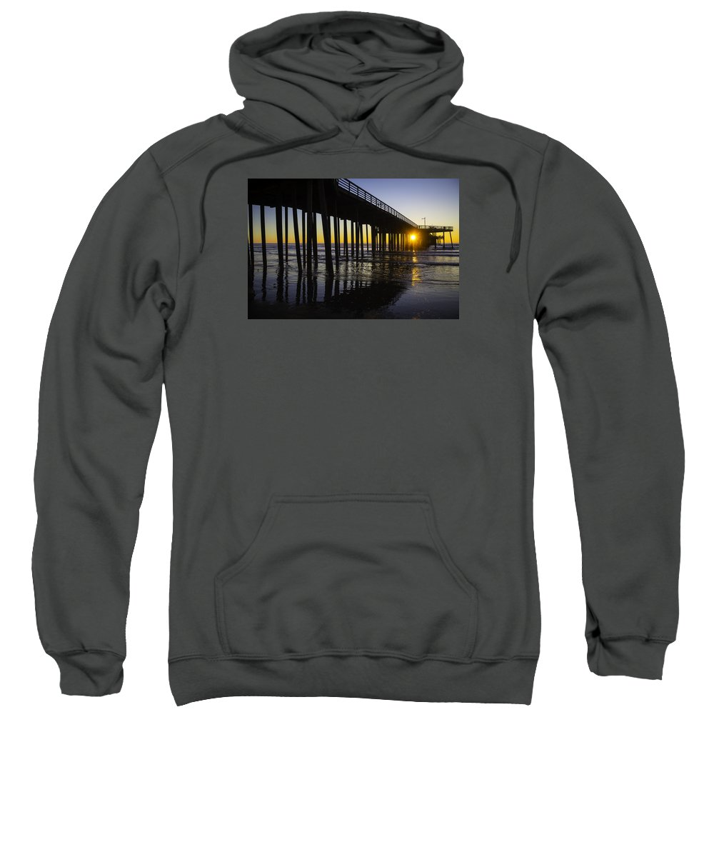 Pismo Beach Sweatshirt featuring the photograph Pismo Sunset Wharf by Garry Gay