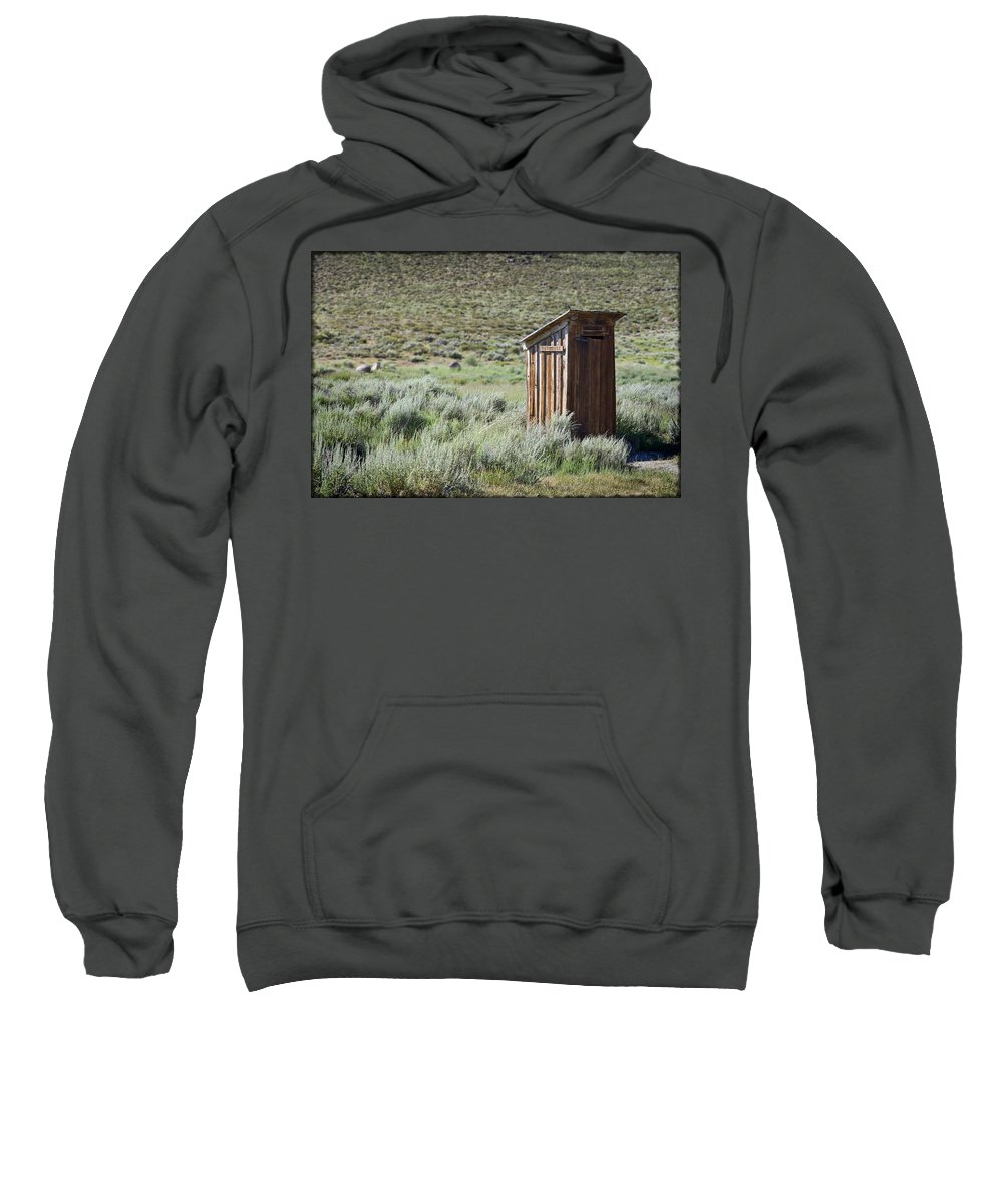 Outhouse Sweatshirt featuring the photograph Pit Stop by Kelley King