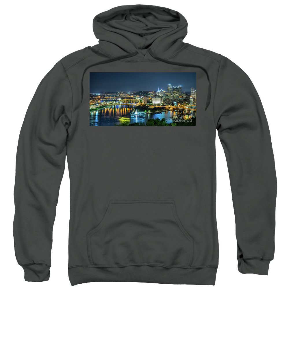 Pittsburgh Sweatshirt featuring the photograph Pittsburgh At Night by Artem S