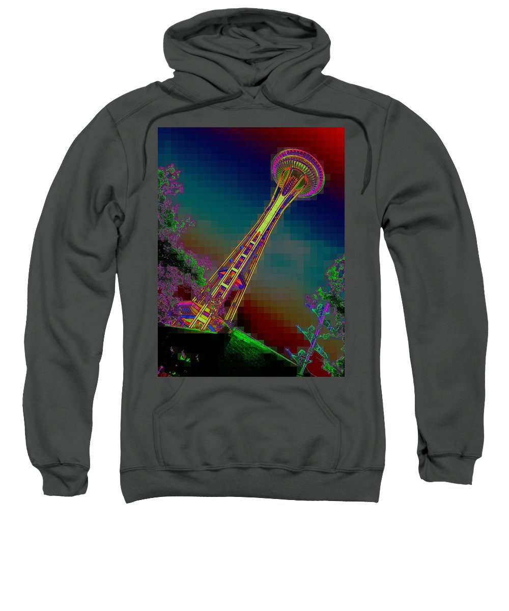 Seattle Sweatshirt featuring the photograph Pixel Needle by Tim Allen