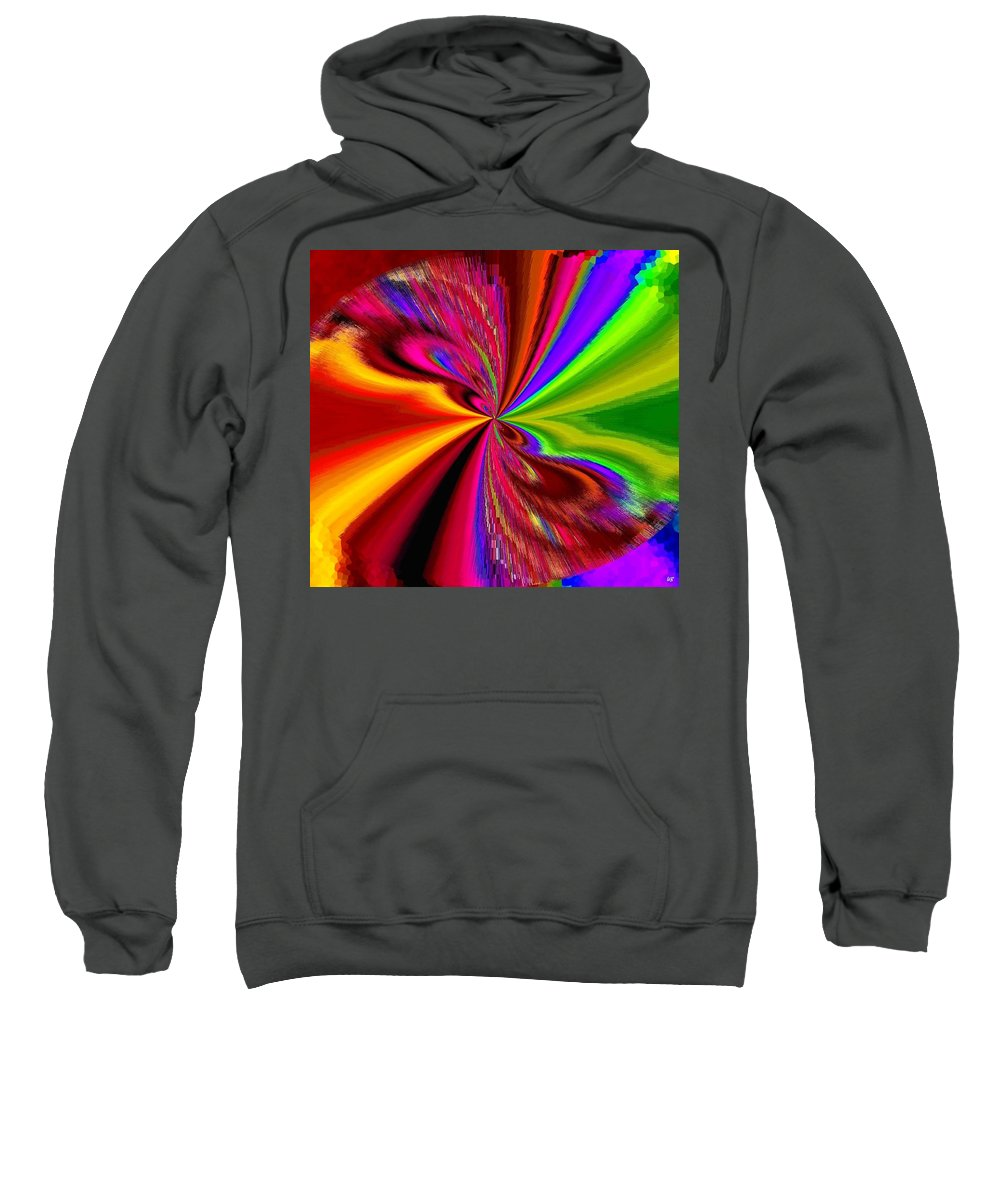 Abstract Sweatshirt featuring the digital art Pizzazz 1 by Will Borden