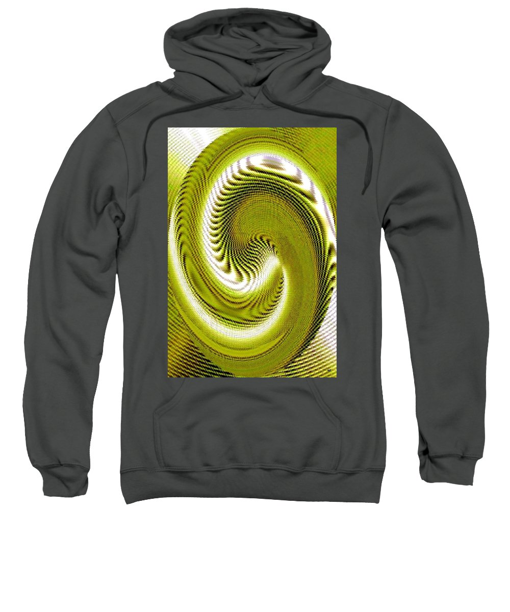 Abstract Sweatshirt featuring the digital art Pizzazz 28 by Will Borden