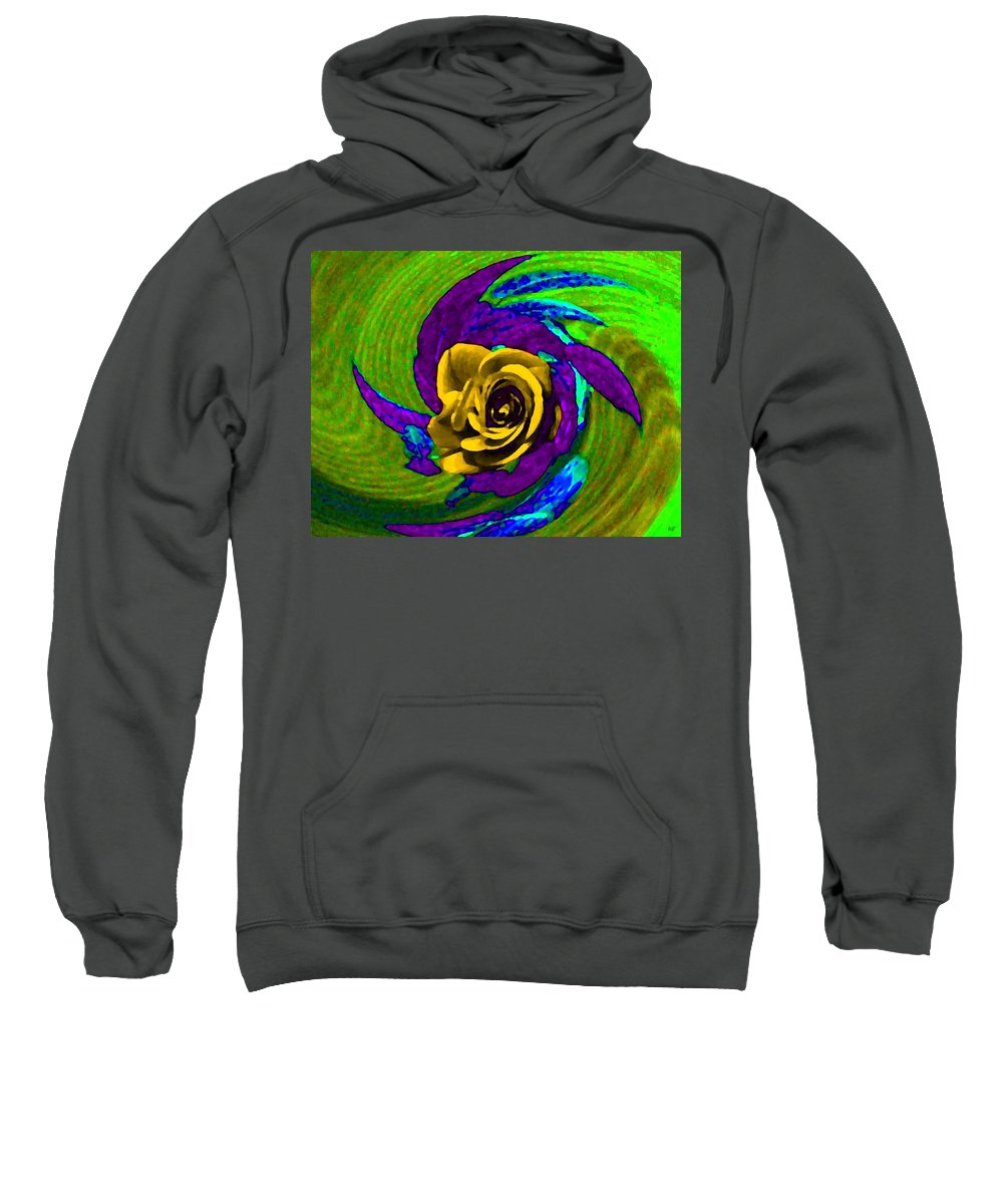Abstract Sweatshirt featuring the digital art Pizzazz 4 by Will Borden