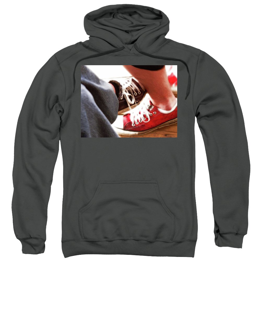 Love Sweatshirt featuring the photograph Playing Footsie by Angela Wright