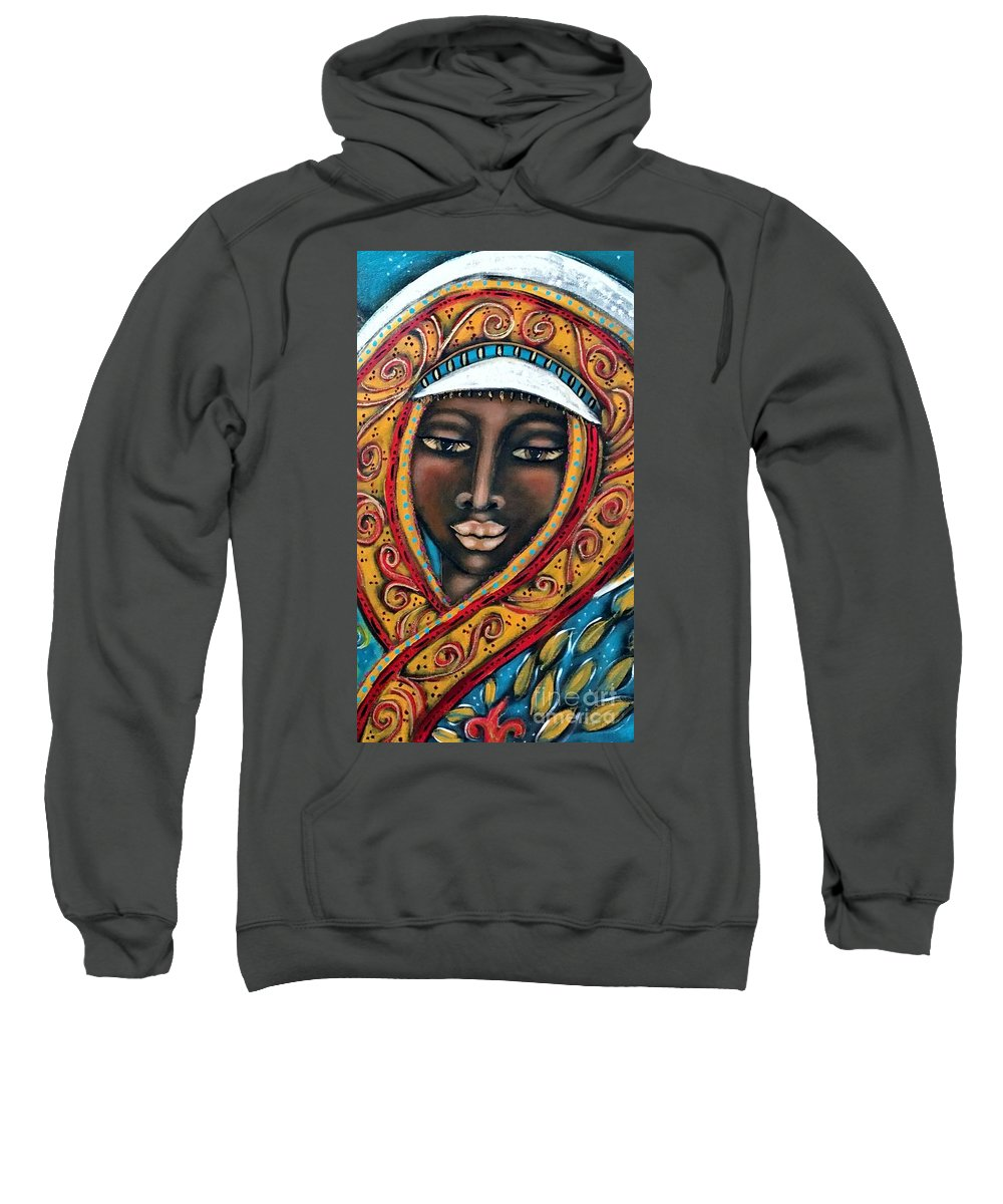 Contemporary Symbolism Sweatshirt featuring the painting Pleione by Maya Telford