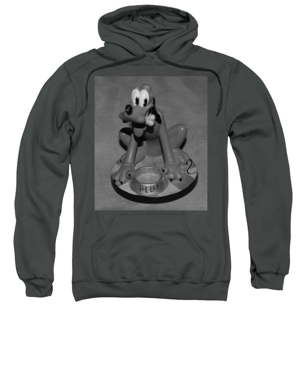 Black And White Sweatshirt featuring the photograph Pluto by Rob Hans