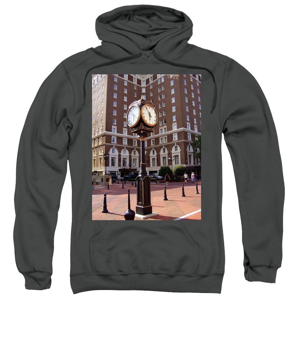 Poinsett Hotel Sweatshirt featuring the photograph Poinsett Hotel Greeenville Sc by Flavia Westerwelle