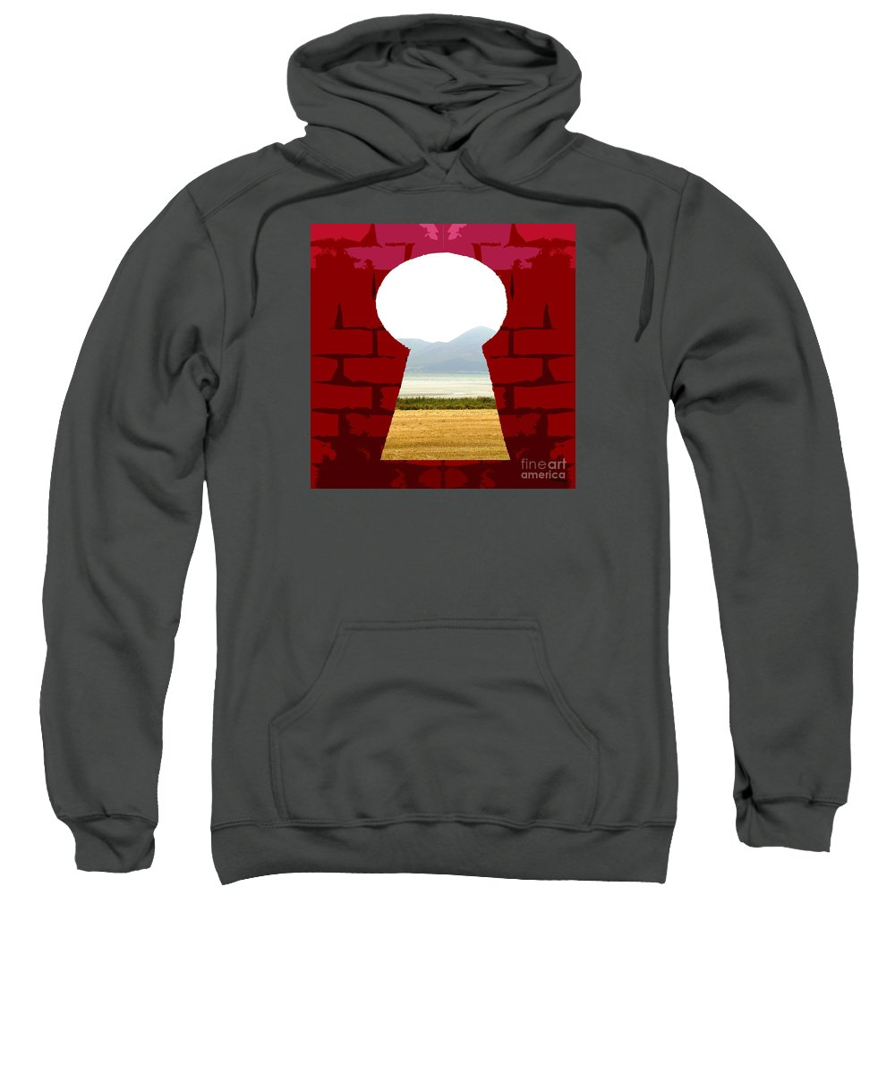 Key Sweatshirt featuring the painting Point Of View by Patrick J Murphy