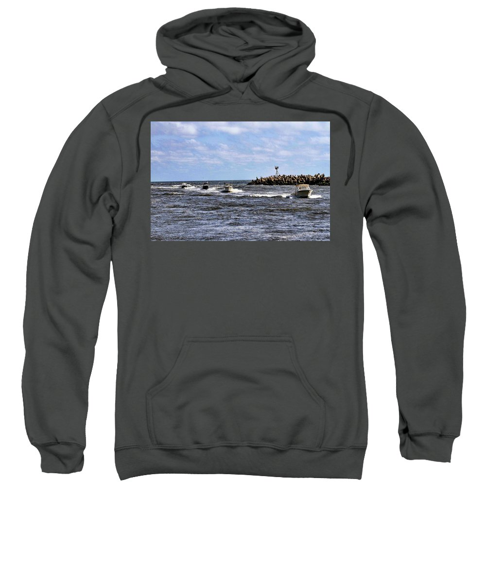 Recent Sweatshirt featuring the photograph Point Pleasant New Jersey by Geraldine Scull
