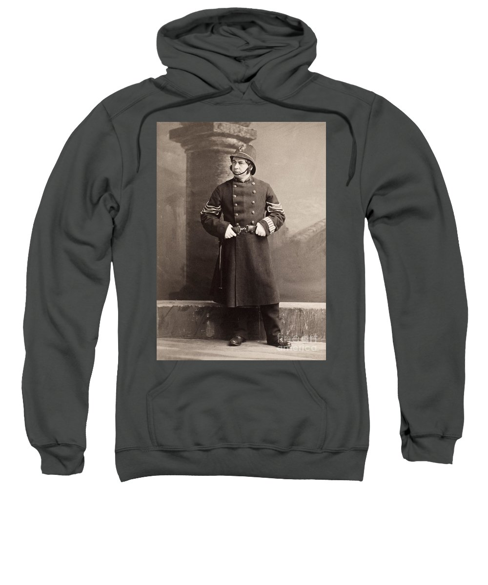 19th Century Sweatshirt featuring the photograph Police Officer by Granger