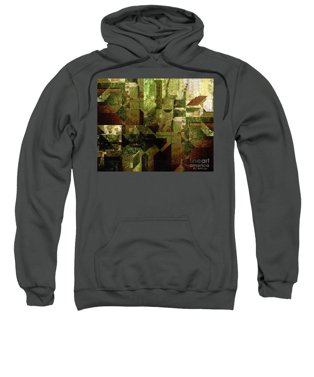 Abstract Sweatshirt featuring the painting Pollution by RC DeWinter