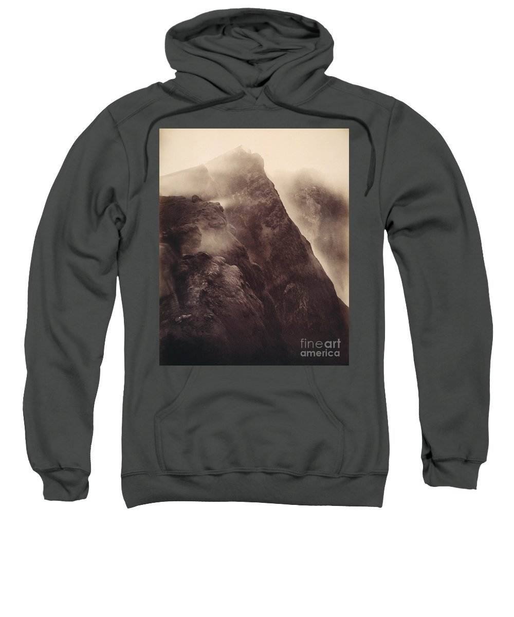 1892 Sweatshirt featuring the photograph Pompeii, Mt Vesuvius by Granger