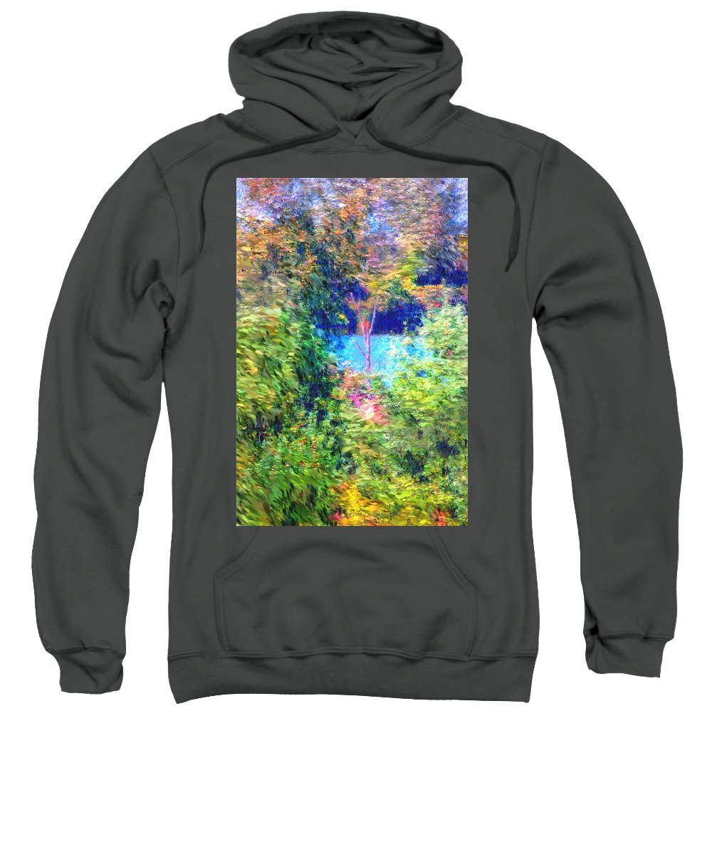 Digital Photograph Sweatshirt featuring the photograph Pond Overlook by David Lane